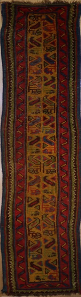 R3298 Antique Turkish Ushak Carpet Runner