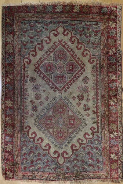 R3396 Antique Turkish Ushak Rug