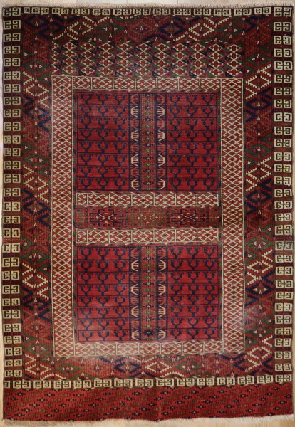 R2874 Antique Turkmenistan Ensi Rug