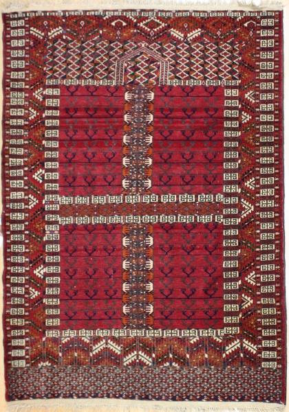 R5541 Antique Turkmenistan Ensi Rug