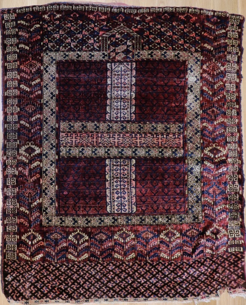 R2931 Antique Turkmenistan Ensi Rug