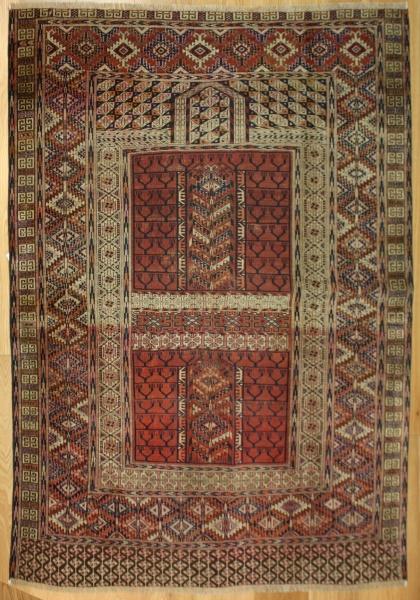 R6500 Antique Turkmenistan Ensi Rug
