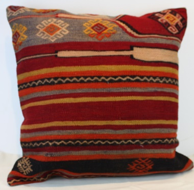 Antique Vintage Handmade Turkish Kilim Pillow Cover XL384