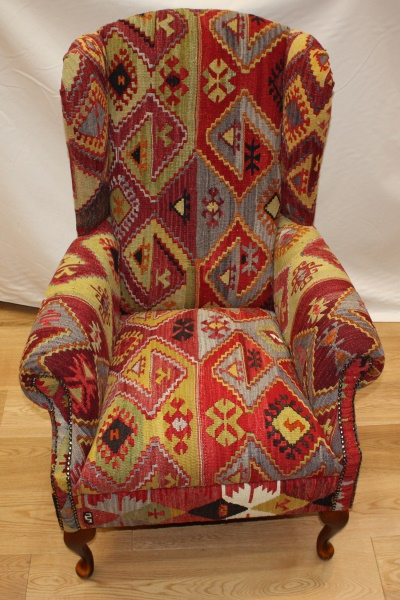 Antique Wing Kilim Chair View One Of The Most