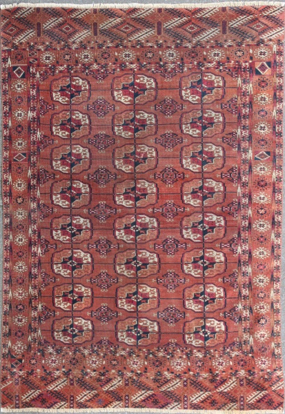 R5135 Antique Yomut Turkmen Rug