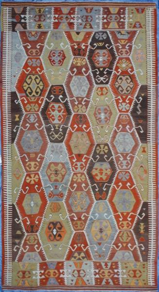 R7092 Turkish Barak Kilim Rug