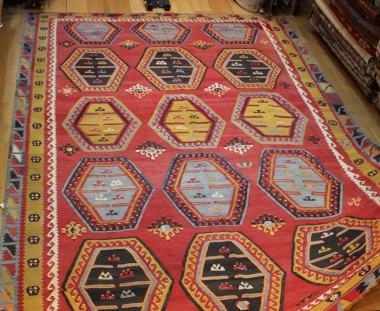 R8170 Beautiful Antique Large Turkish Kilim Rugs