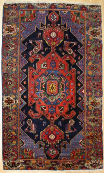 Beautiful Antique Persian Bidjar Carpet R7571