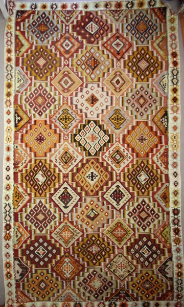 R7637 Beautiful Antique Turkish Adana Kilim Rug