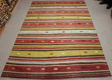 R8700 Beautiful Antique Turkish Kilim Rug