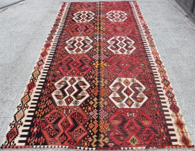 R8742 Beautiful Antique Turkish Kilim Rug