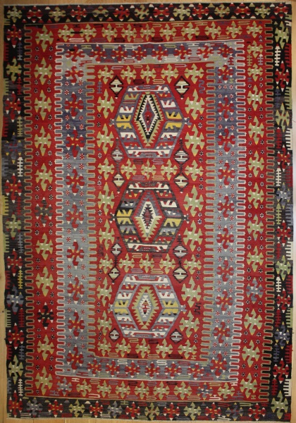 Beautiful Antique Turkish Kilim Rug R8028