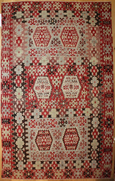 Beautiful Antique Turkish Kilim Rug R8071