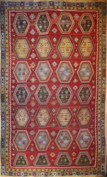 R7630 Beautiful Antique Turkish Sarkisla Kilim Rugs