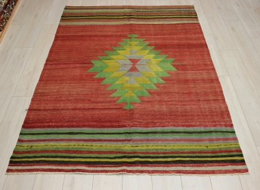 Beautiful Handmade Turkish Afyon Kilim Rug R9088