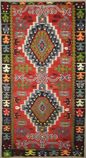 R7820 Vintage Turkish Ushak Kilim Rugs