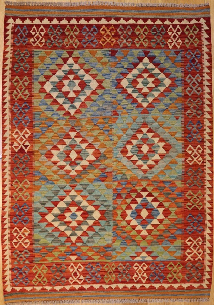 R8877 Beautiful New Afghan Kilim Rugs