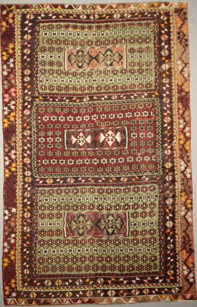 R7669 Beautiful Turkish  Kilim Rug