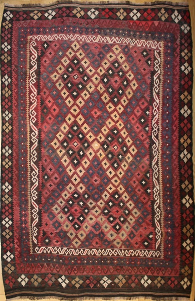 R8792 Beautiful Vintage Afghan Kilim Rugs