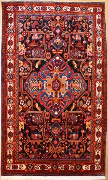 R8099 Beautiful Vintage Handwoven Carpet