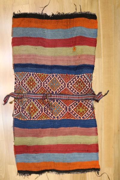 R9014 Beautiful Vintage Turkish Kilim Cicim Rugs