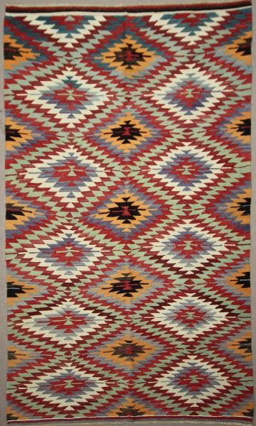 Beautiful Vintage Turkish Kilim Rug R7883