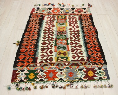 R8939 Beautiful Vintage Turkish Kilim Rugs