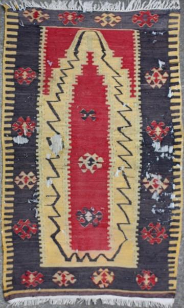 R6980 Antique Turkish Corum Kilim