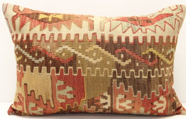 D400 Antique Turkish Kilim Pillow Cover