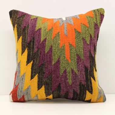 Decorative Anatolian Kilim Pillow Cover M1385