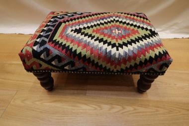 R7011 Decorative Kilim Footstool