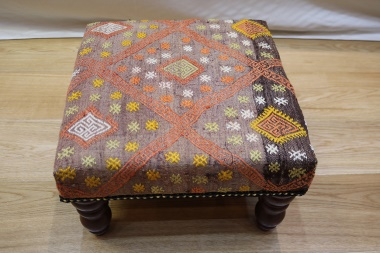 R7034 Decorative Rug Store Kilim Stool