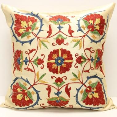 C11 Silk Suzani Cushion Cover