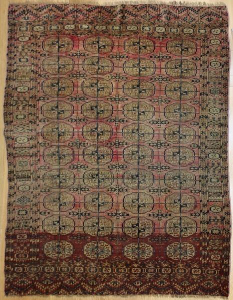R7772 Antique Turkmenistan Tekke Rug