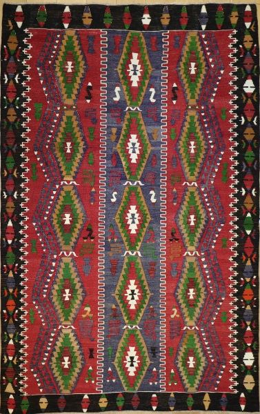 R9159 Flat Weave Kilim rugs