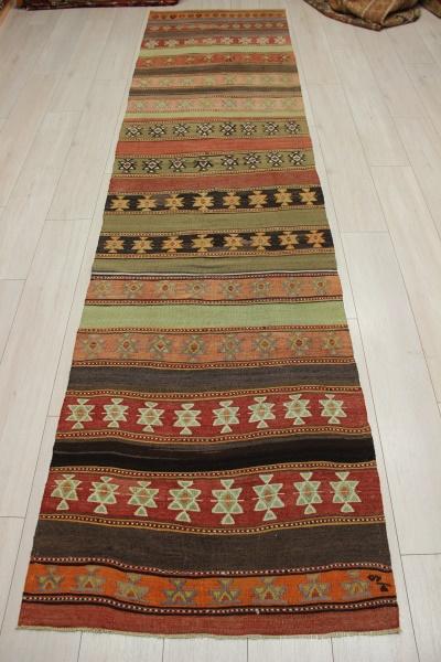 R9177 Flat Weave Turkish Kilim Rug Runner