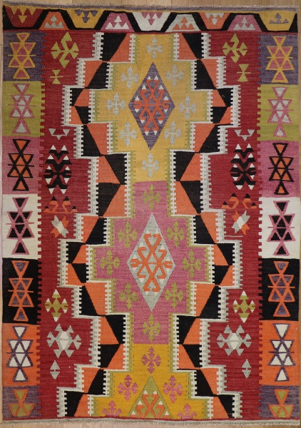 R9147 Flat Weave Turkish Kilim rugs