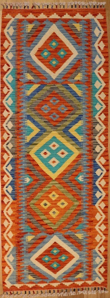 R8863 Gorgeous Hand woven New Afghan Kilim Runners