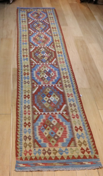R8859 Gorgeous Hand woven New Afghan Kilim Runners