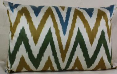 i38 Gorgeous Silk Ikat Cushion Pillow Covers