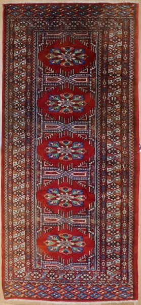 R7715 Hand Knotted Bokhara Runner