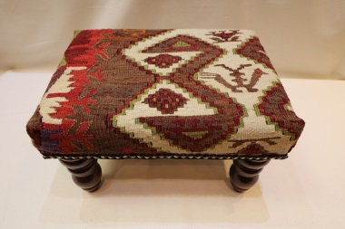 R4534 Hand Woven Kilim Foot Stool