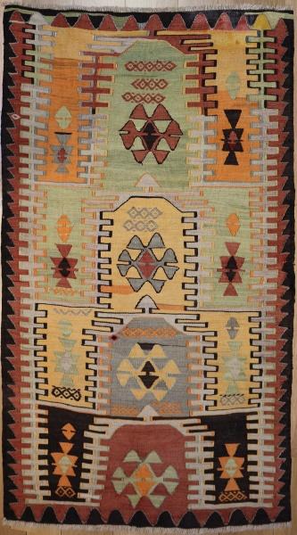 R3567 Hand Woven Konya Kilim Rug