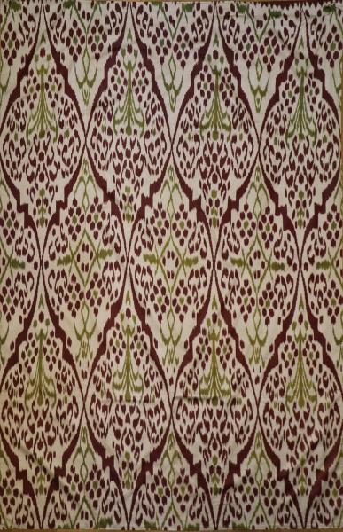 R8327 Hand Woven Silk Ikat Textiles