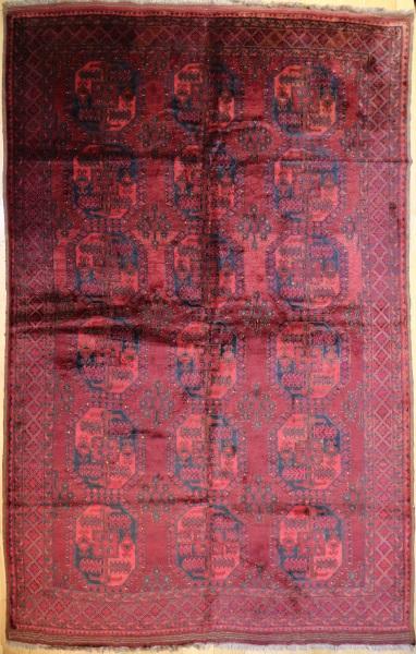 R7801 Hand Woven Turkmenistan Ersari Carpet
