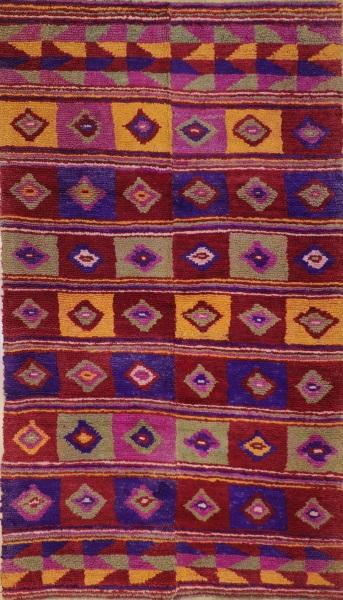 R7906 Hand Woven Vintage Anatolian Tulu Rugs