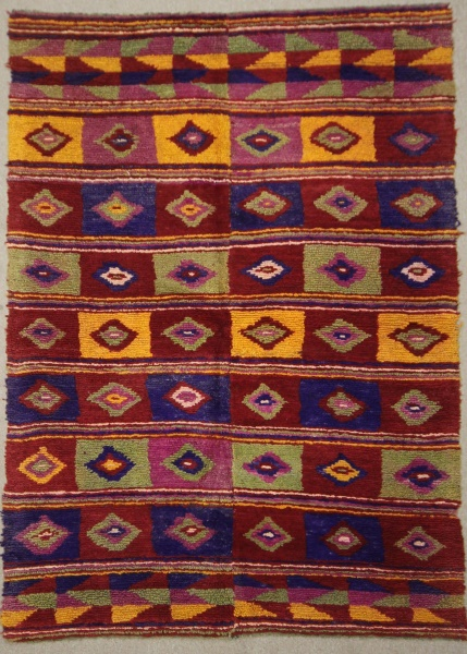 Hand Woven Vintage Anatolian Tulu Rugs R7906