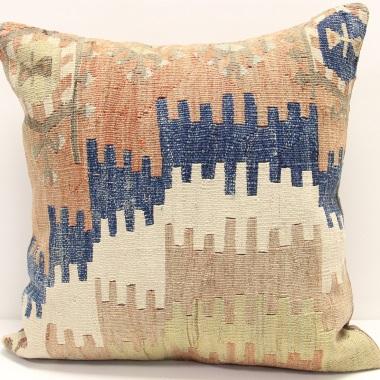 L689 Handmade Antique Turkish Kilim Pillow Cushion Cover