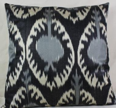 Handmade ikat pillow cover