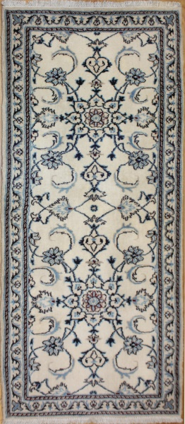 Handmade Persian Nain Carpet Runner R7981
